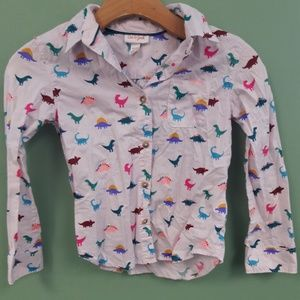 Cat and Jack Dinosaur Button Up